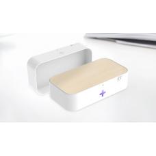 Портативный ультрафиолетовый стерилизатор UV с функцией беспроводной зарядки LED 9V/1.2A Белый (hub_PPBF34491)