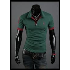 Мужская футболка с воротником XXL- XХXL (черный, зеленый, белый)  код 56