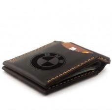Зажим для денег с гравировкой BMW из натуральной кожи Коричневый (as110102-6)