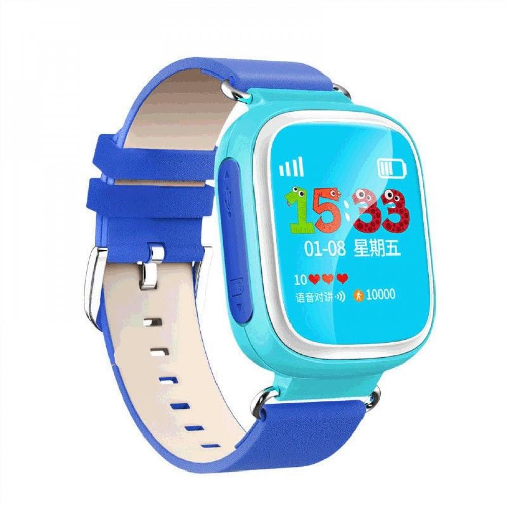 Детские Смарт Часы с  трекером с сенсорным экраном Голубые