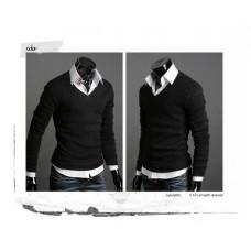 Свитер мужской М-XXL черный (код 73)