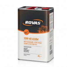 Моторное масло Rovas 10W-40 A3/B4 полусинтетика 4л (110057)