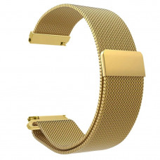 Ремешок стальной BeWatch миланская петля шириной 20 мм Gold (1010228.u)