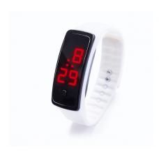 Наручные LED 555 часы браслет белые