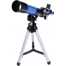 Детский телескоп MaxUSee 400x40 мм со штативом и искателем, портативный телескоп для детей и начинающих