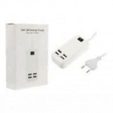 Сетевой USB HUB разветвитель 4 USB входа 220V