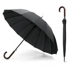 Зонт антишторм трость HMD Черный (140-13821265)