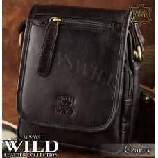 Сумка мужская Always Wild натуральная кожа Польша черного цвета