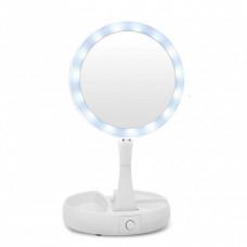 Косметическое зеркало Mirror My Foldaway с подсветкой Белый (200201  Mirror)