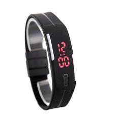 Наручные LED часы браслет черный