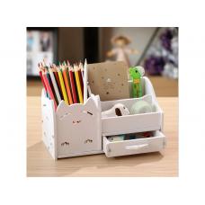Подставка-органайзер для канцелярских предметов и мелочей HMD Белая (103-10222397)