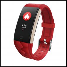 Смарт браслет T20 цветной дисплей- Красный Шагомер, уведомления о вызовах и смс, пульсометр, датчик давления