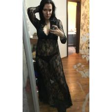 Длинное платье-пеньюар из кружева для фотосессии, на романтический вечер 4 цвета 303