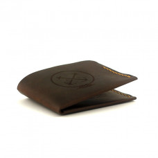Мужской кошелёк кожаный Triplet (as120302) Коричневый