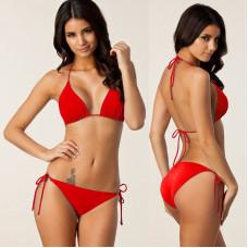 Яркий раздельный купальник для женщин 5 цветов код 2 (красный)