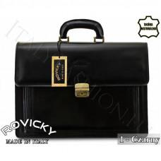 Портфель натуральная кожа производство Италия Rovicky  цвет черный