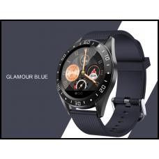Умные часы Smartwatch GT105 IP67 водонепроницаемый с мониторингом сердечного ритма IOS Android  синие