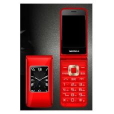 Раскладной телефонH-mobileDualRedс двойным экраном и громкий звуком