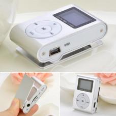 MP3 мини плеер MX-801FM  мини с экраном С памятью 4GB прищепкой серебро