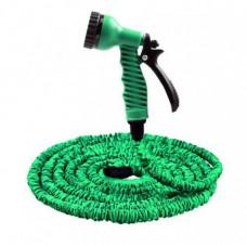 Усиленный садовый шланг для полива Xhose 60 м с распылителем Зеленый (258491)