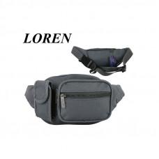 Барсетка на пояс бренд Loren (серый)