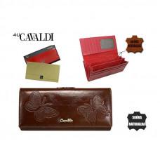 NEW 2020! Шикарный женский кошелек Cavaldi КОЖА коричневый