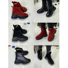 Ботинки женские зимние натуральная кожа, замш
