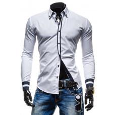 Рубашка мужская M - ХL (белая ) код 77