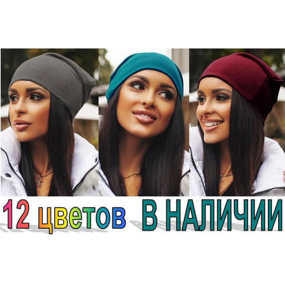 Женская шапка трикотажная код: 31