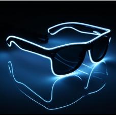 Очки светодиодные солнцезащитные El Neon неоновые ray White (901865064)