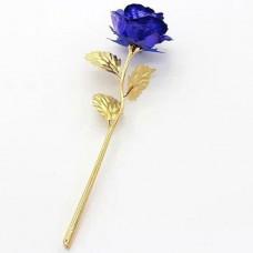 Золотая роза с синим бутоном (GR01B)