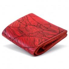 Женский кожаный кошелек Anchor Stuff Square Fern - Красный (as120106-f)