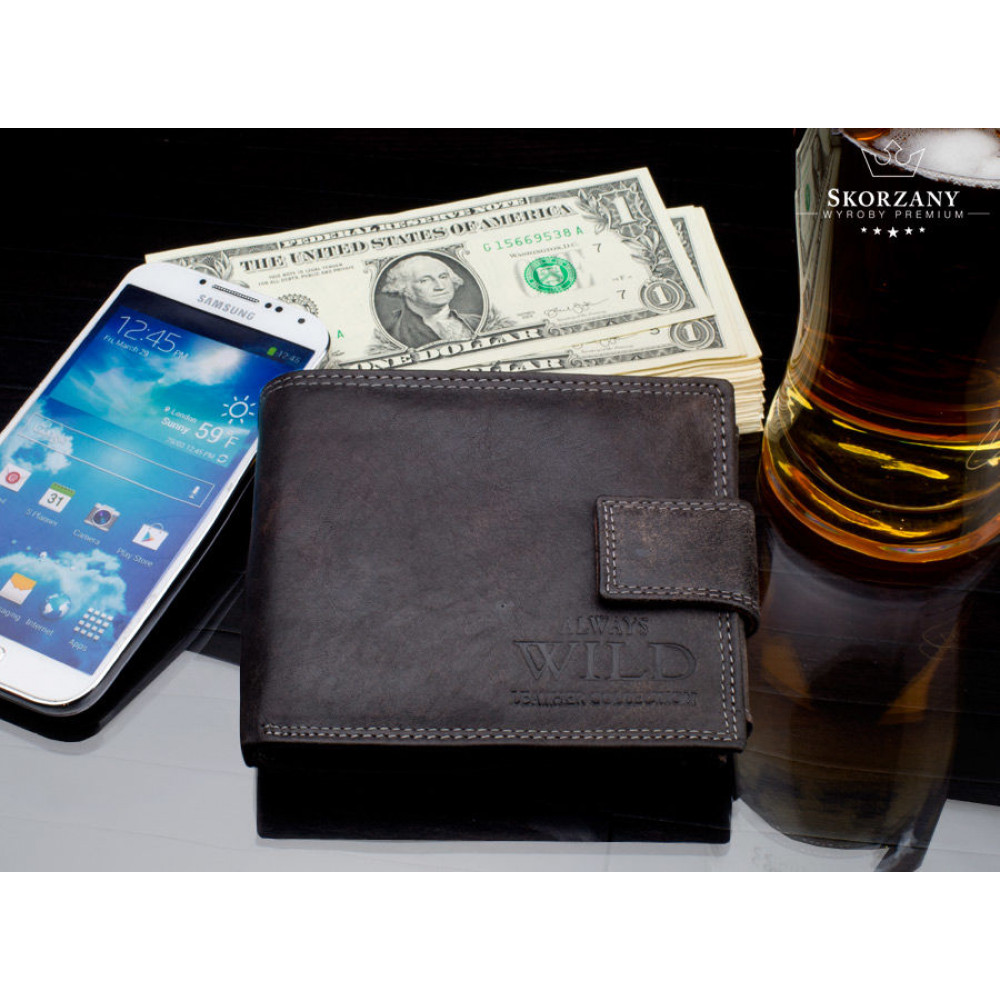 NEW 2020! Мужской кошелек бренд  ALWAYS WILD (винтажный)