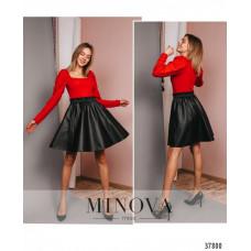 Женская элегантная расклешённая юбка-Черный