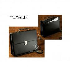 Портфель из экокожи Cavaldi Польша цвет черный