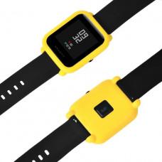 Силиконовый чехол Tamister на весь корпус для Xiaomi Amazfit BIP Желтый (1010620)