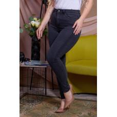 Женские джинсы скини с декорированными лампасами больших размеров. Джинсы Батал Темно серые-48,50,52,54