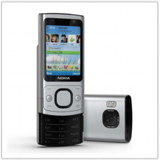 Телефон-слайдер  6700s серебро с металлическим корпусом