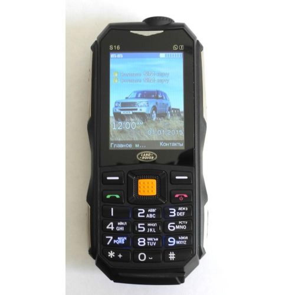 Мобильный телефон Land Rover S16 черный (2 Sim. 10.000 mAh)