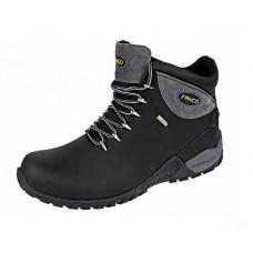 Треккинговые высокие мужские ботинки с цветной серой вставкой, р. 41-45