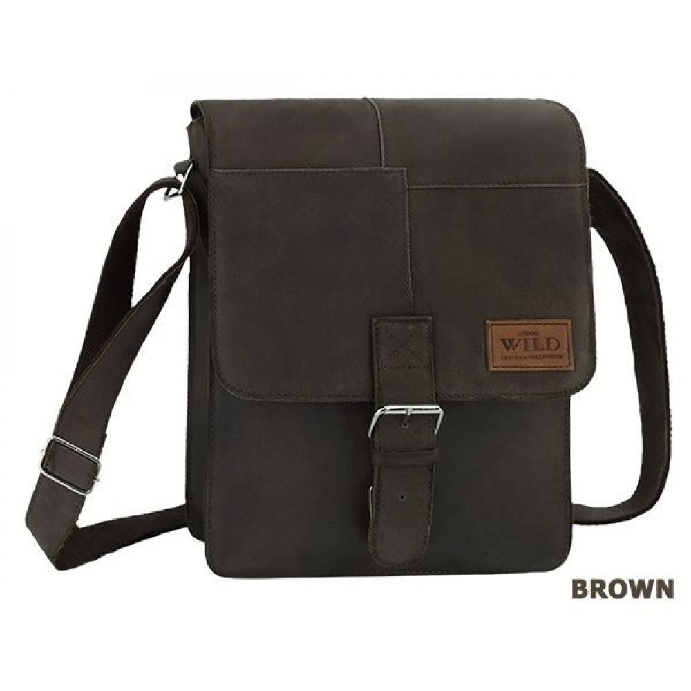 Мужская сумка из натуральной кожи бренд Always Wild