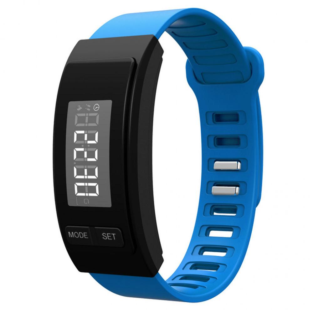Часы -Фитнес браслет H40 синий шагомер, калькулятор калорий, измеритель дистанций, напоминание, будильник