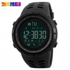 Спортивные умные часы Skmei Smart 1250 черные 50 m водонепроницаемый (5АТМ)