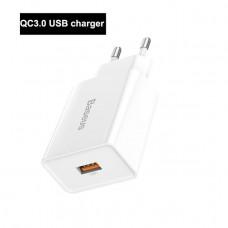 Зарядное Baseus Quick charger USB 18W EU white