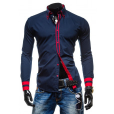 Рубашка мужская M - ХL (темно-синяя )