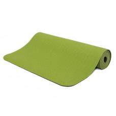 Коврик для йоги Bodhi Lotus Pro 183 x 60 x 0.6 см Зелёный с серым (hub_OwEv56952)