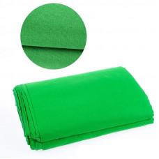 Фон тканевый зеленый для фотостудии 3х2.2 м Chromakey (ld3)