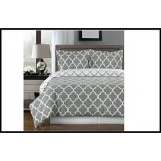 Комплект постельного белья, хлопок 160x200, пододеяльник, простынь, наволочки серый