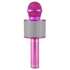 Беспроводной караоке микрофон Wster WS 858 Розовый (115)