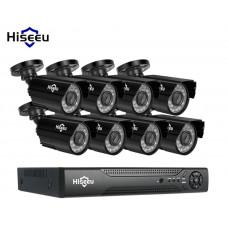 Комплект видеонаблюдения Hiseeu 8ch AHD-2MP 1080P Outdoor